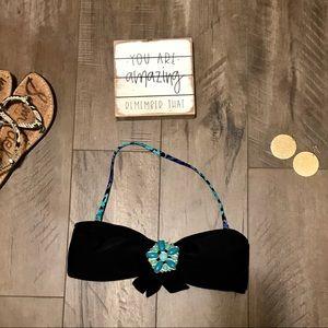 Mudd Bandeau Bikini Too. Black. Size Medium.